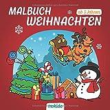 Malbuch Weihnachten ab 3 Jahren: Ein schönes Weihnachtsfest mit Nikolaus & Co. Kinder Malbuch zum Malen, Kritzeln und Sammeln. Für Mädchen und...