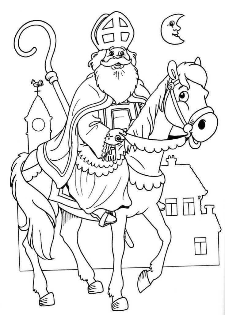 Nikolaus auf dem Pferd